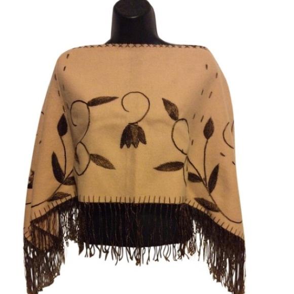 Vintage Jackets & Blazers - Vintage Wool Poncho